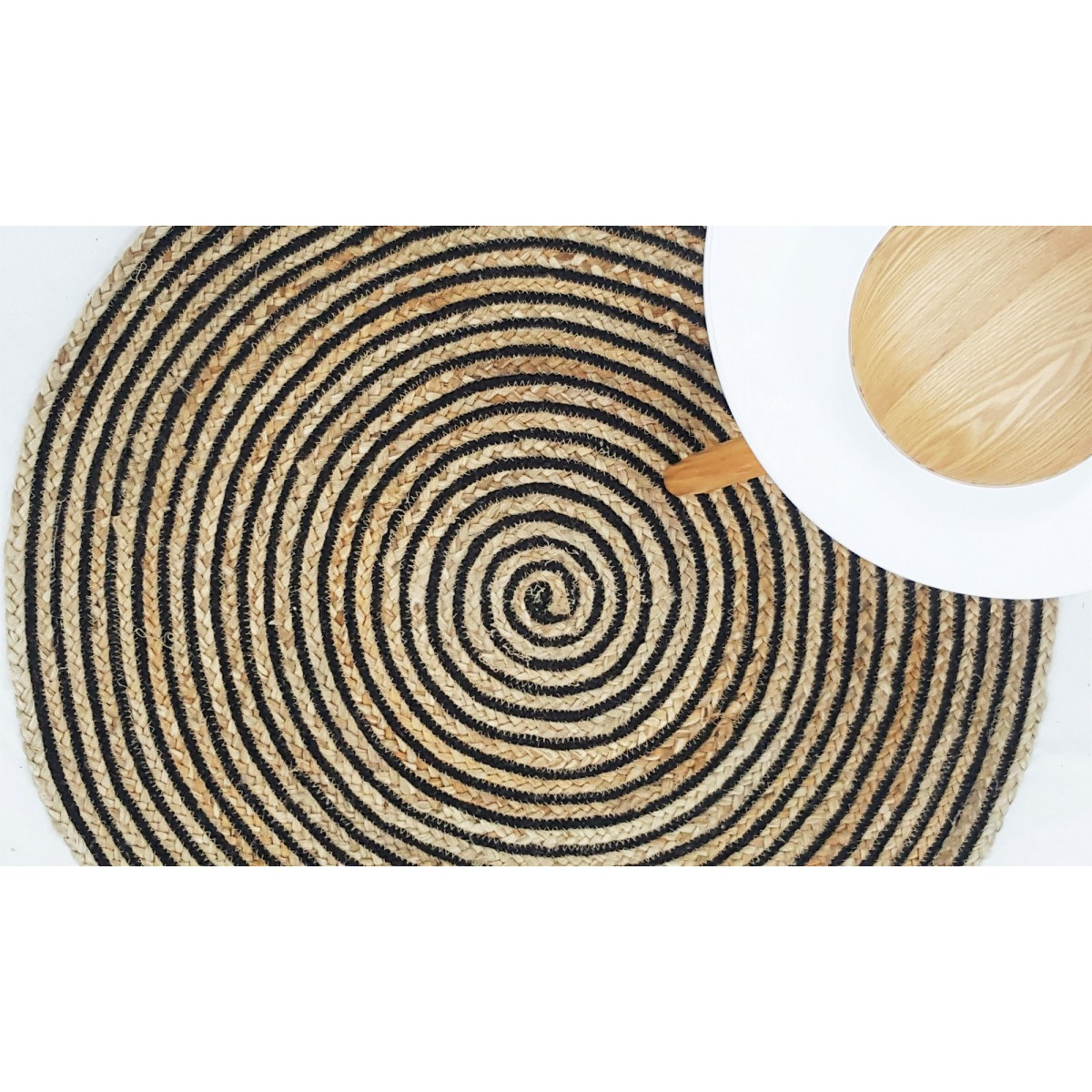 Orchid Round Jute Rug | HRB Wholesale