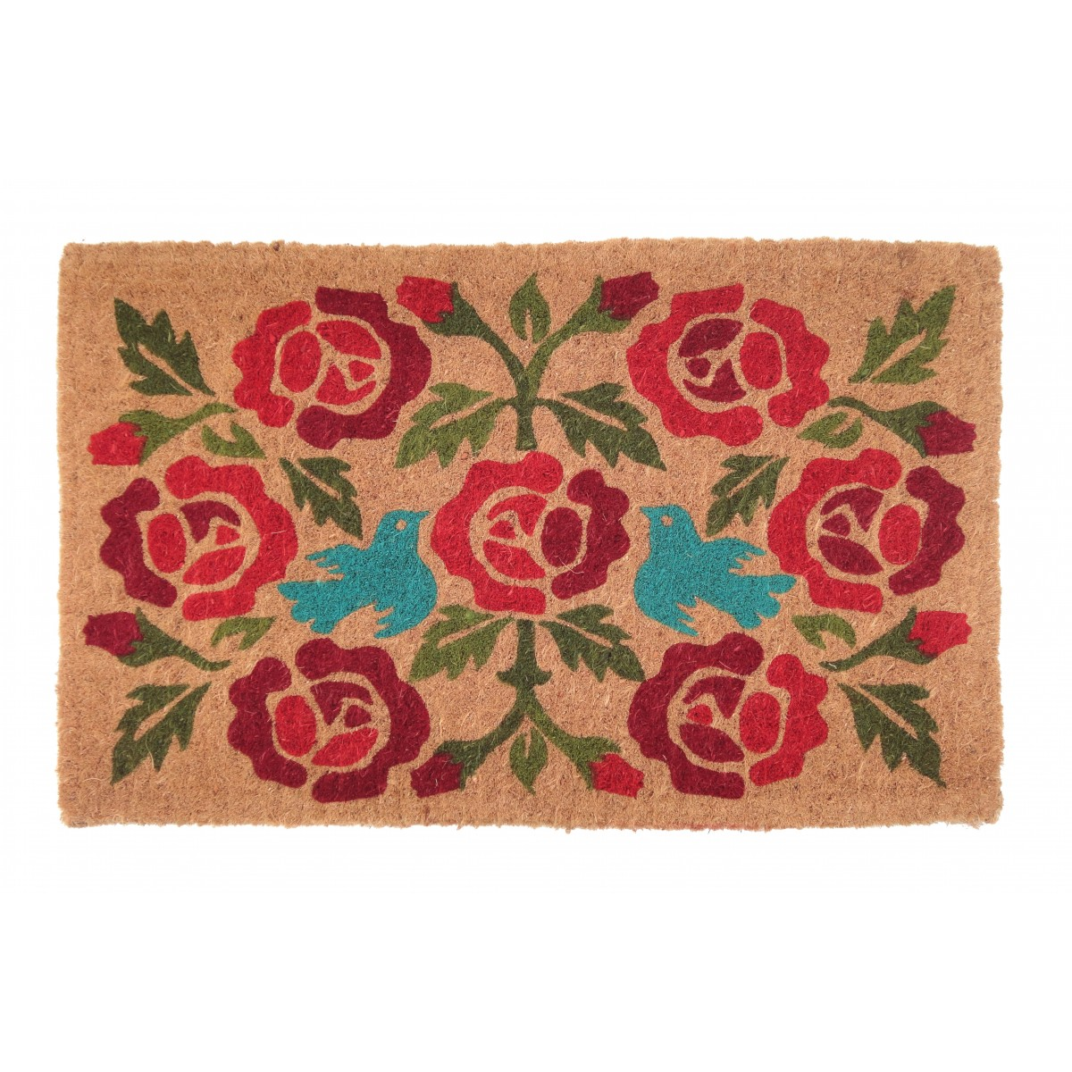 100% Coir Door Mat, Crimson