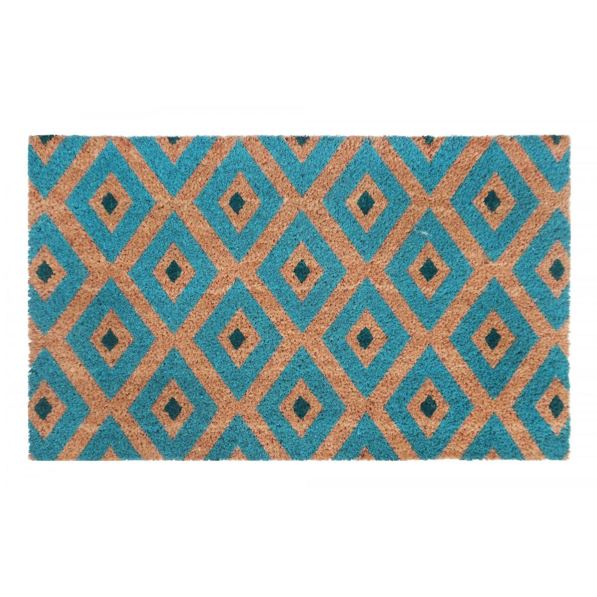 PVC Backed Coir Door Mat Kimberley Blue