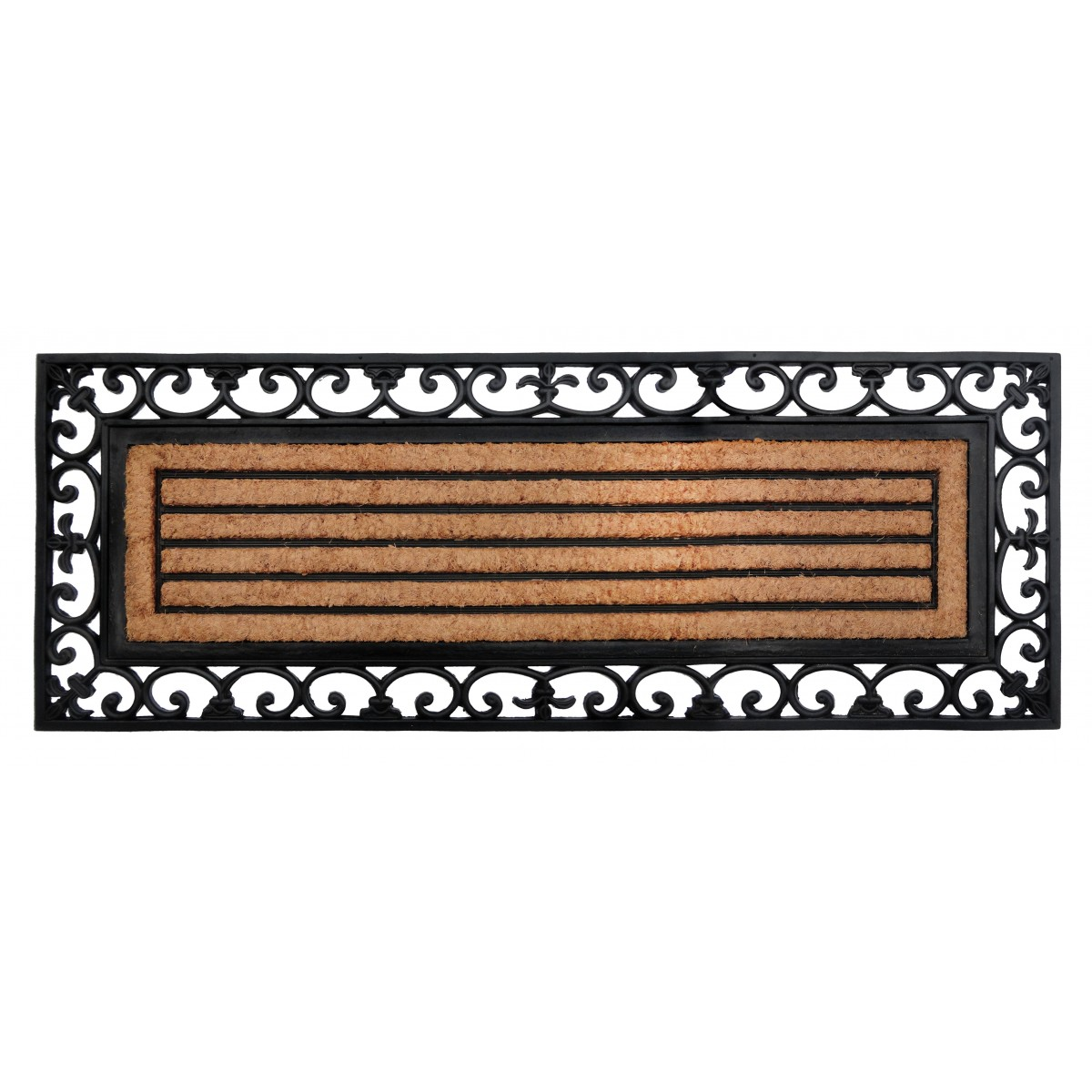 Rubber Bordered Coir Door Mat - Nautica
