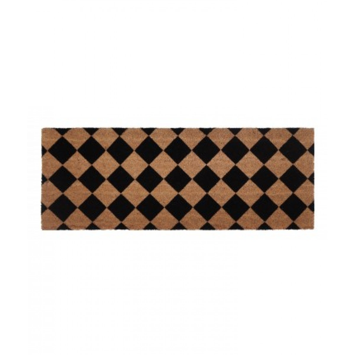 PVC Backet Coir Door Mat Black Diamond